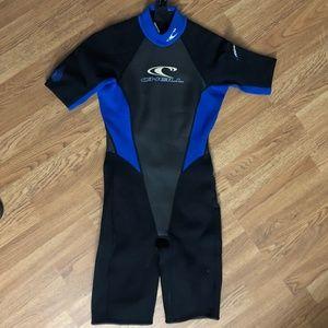 O'Neill WetSuit Kids Size 8 Blue Black EUC